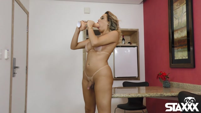 Tranny Candy presents Yasmin De Castro Hot trans slut dildos her tight asshole 00006