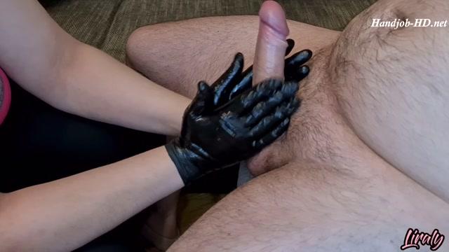 Hot handjob with latex gloves orgasm - Liraly 00006