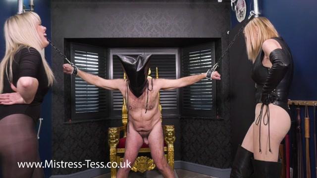 Mistress Tess - Mistress Paris - Interrogation - Ball Abuse 00001