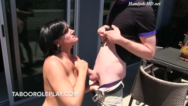 Penny Blows Her Step-Son on the Balcony - Miss Penny Barber 00012