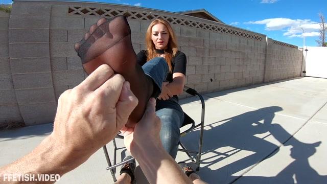 Perversion Productions - Sablique POV Big Feet - Foot Rubbin 00007