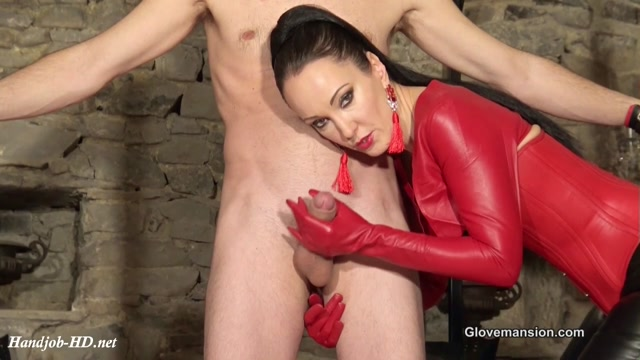 Bound Cumeating Glove Slave - GloveMansion 00003