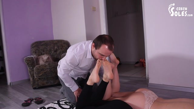 Czech Soles - Sensual Asian masseuse and wife double bare feet worship 00010