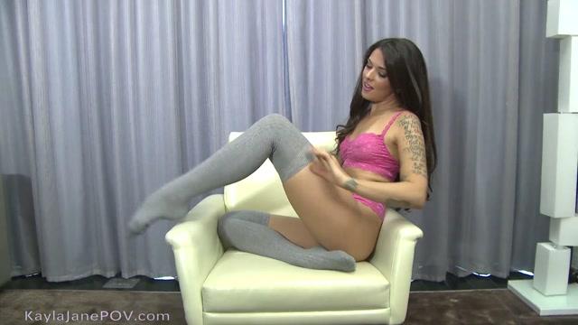 KaylaJanePOV sock tease in lingerie 00010