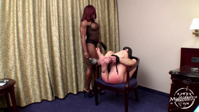 Kinky Mistresses - Mistress Treasure - Using A Hairbrush - Spanking 00011