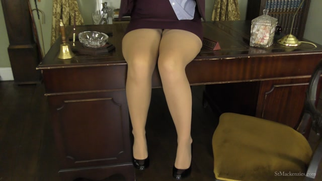 St Mackenzie's - Naughty School Girl Dolli Strips and Teases You With Her Sexy Sheer Stockings 00001