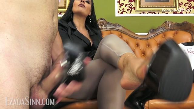 Creaming inside My platform shoes - Mistress Ezada Sinn - FootJob 00005