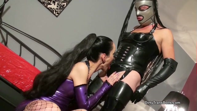 Dirty Trans Dolls - Rubber doll milked part 1 00004