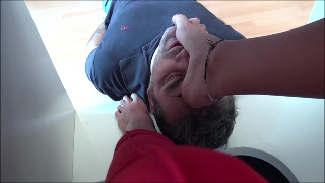 EUROFEMDOM ELITE REA  The Office Clown  Your Face As My Footstool 00014