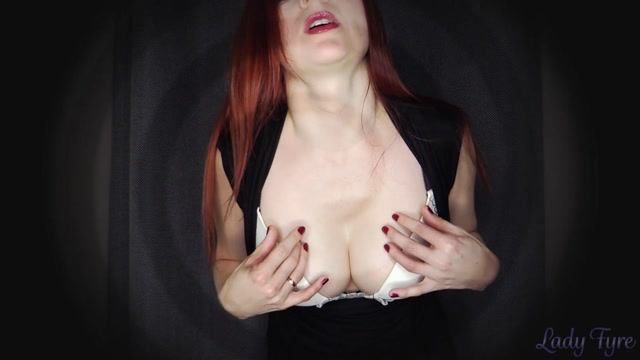 Lady Fyre Twisted mesmerizing hypnosis, mistress makes you stare at tits but think of cock! 00007