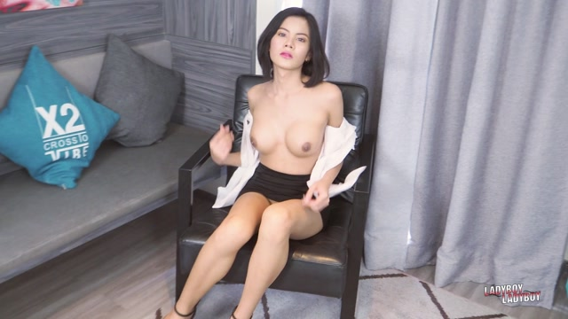 Ladyboy-Ladyboy presents Honey - Kat Satisfies Her Cock! 12.04.2021 00002