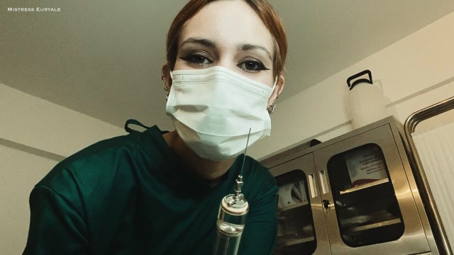 Mistress Euryale - Testicles Removal Surgery and Stitching on a Respirator 00014