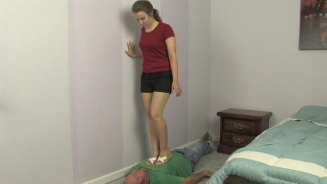 Mistress Kat tramples ladiesfloor with sexy wedge sandals – HEADUNDERHEELS 00001