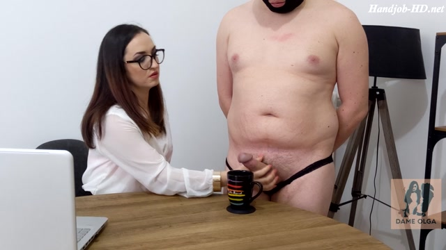 Ruined Orgasm Milking my Butler for a Dash of Cum - Dame Olga
