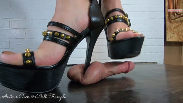 Anika and Friends Cock and Ball Trample – Anika Platform Stiletto CBT! (close) – $14.99 (Premium user request) 00003