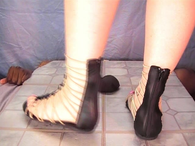 Squashed by gladiator sandals 00005